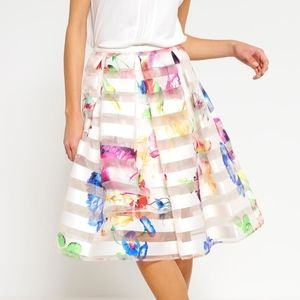 Ted Baker Hoona A Line Floral Midi Skirt 3 US 8